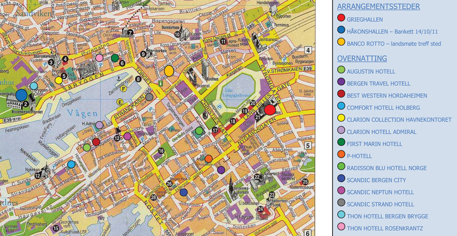 bergen kart Kart over Bergen   Den norske tannlegeforenings Tidende bergen kart